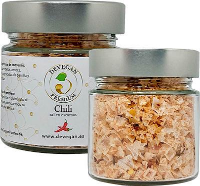 Escamas de sal con chili